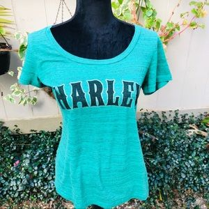 Harley Davidson women's Tee size large color green